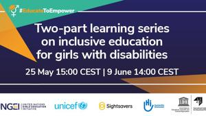 Two-part learning series: Inclusive education for girls with disabilities