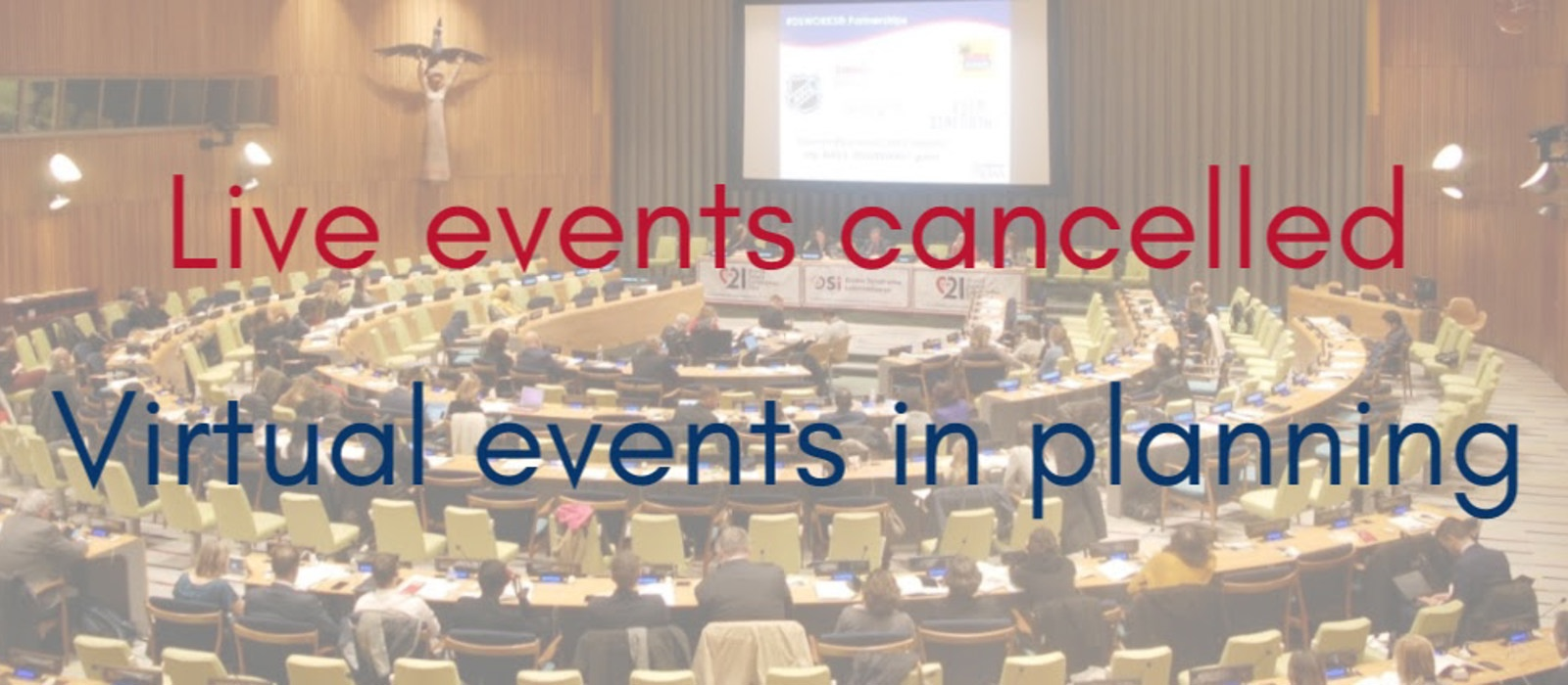 Cancellation of WDSD events in New York and Geneva due to global COVID-19 situation