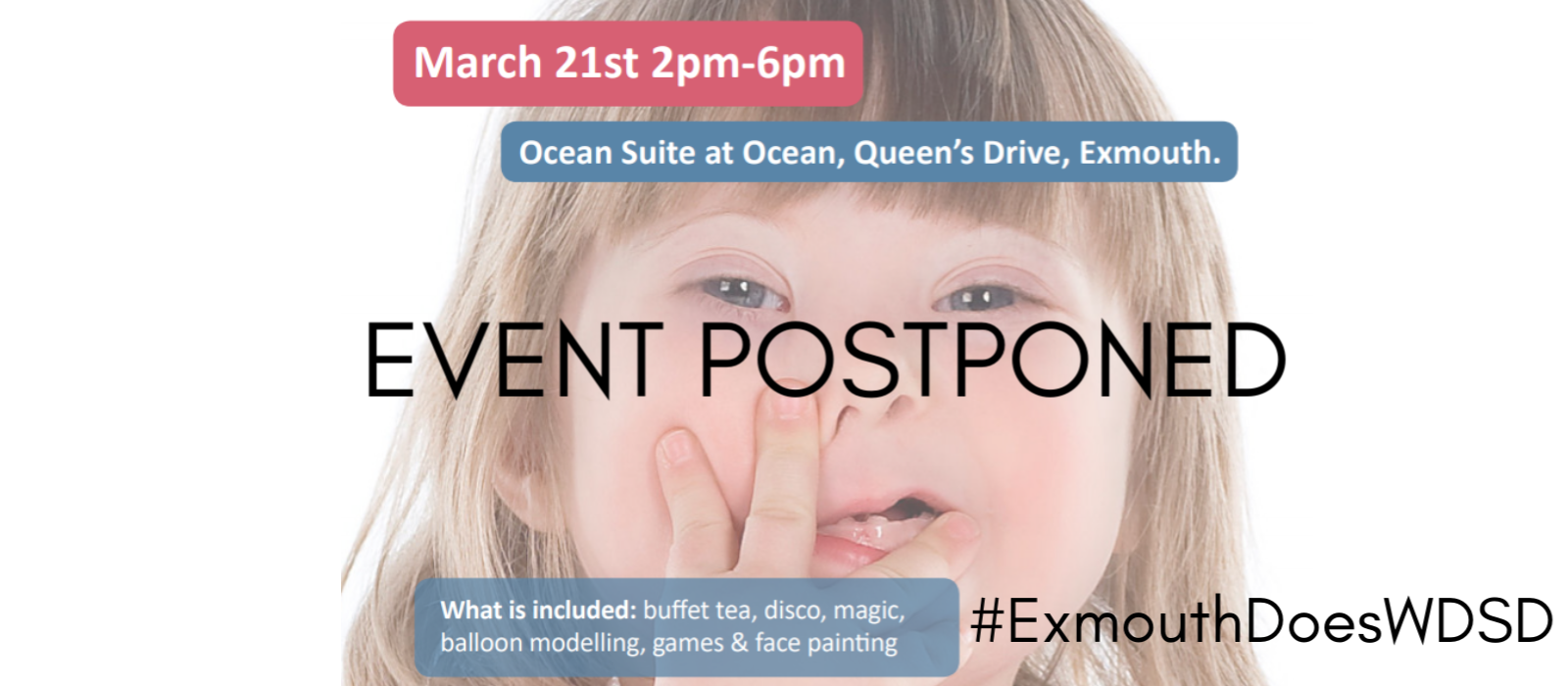 Exmouth Does World Down Syndrome Day (postponed)